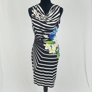 Desigual women S bodycon dress ruched sides